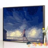 diy數字油畫涂色填色畫手繪油彩畫畫裝飾畫【淘嘟嘟】