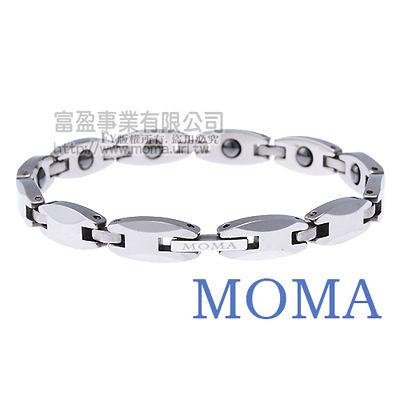 【MOMA】鎢鋼鍺磁手鍊風華窄版-M83L