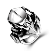 鈦鋼戒指 頭盔-另類個性龐克復古生日情人節禮物男飾品73le234【時尚巴黎】