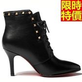 短靴 高跟女靴子-造型質感優雅品味休閒2色66c42[巴黎精品]