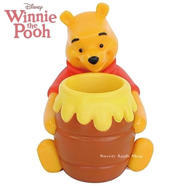 日本限定 迪士尼 小熊維尼 蜂蜜糖罐 立體造型 牙刷架