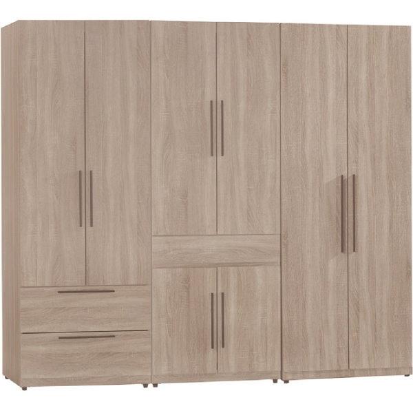 衣櫃 衣櫥 SB-535-5 凱文7尺淺灰橡組合衣櫃【大眾家居舘】