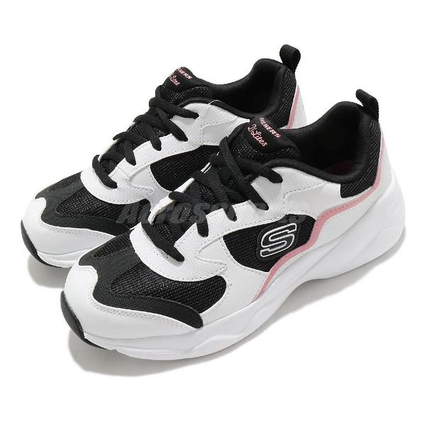 Skechers 休閒鞋 D Lites Airy-Matter Of Time 白 黑 粉 女鞋 運動鞋 老爹鞋 【ACS】 66666231WBPK