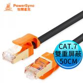 Powersync 群加 包爾星克 CAT.7 抗搖擺 超高速 網路圓線 (黑色) 50CM CLN7VAR0005A
