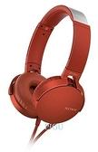 平廣 送袋繞公司貨保1年 SONY MDR-XB550AP 紅色 耳機 單鍵手機用 耳罩式耳機