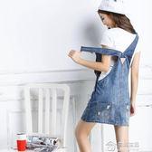 牛仔背帶裙夏季女新款韓版學生短裙修身顯瘦中長款半身裙寬鬆 生活主義