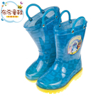 《布布童鞋》POLI救援小英雄全員集合藍色提把兒童雨鞋(16~21公分) [ B9P606B ]