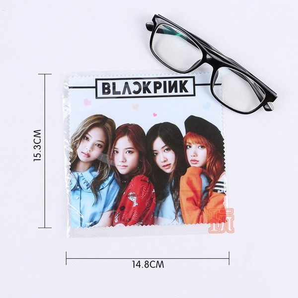 BLACKPINK 眼鏡布手機螢幕戒指擦拭布E682-F【玩之內】粉墨 Lisa Jennie Rose Jisoo智秀 珍妮