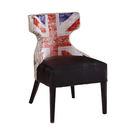 【森可家居】英國報紙布面皮餐椅 7JF4...