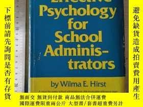 二手書博民逛書店Effective罕見psychology for school