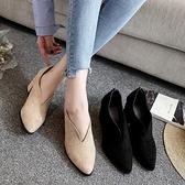 淑女小跟低幫ins馬丁靴女 英倫女鞋2020新款靴子百搭粗跟平底短靴