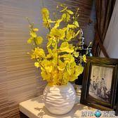 假花 跳舞蘭模擬花套裝客廳餐桌裝飾花 假花擺件絹花塑膠花插花裝飾花 下標免運