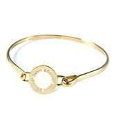 MARC JACOBS 奶油色圓盤LOGO硬式手環-M0008542-106