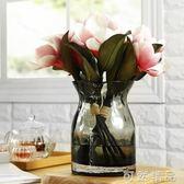 創意歐式波點花瓶玻璃透明客廳插花桌面擺件家居餐桌裝飾品小清新   igo可然精品鞋櫃