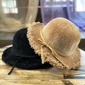 毛帽 漁夫帽女秋冬新款時尚磨邊雪尼爾可折疊百搭日系帽子女韓版學生潮 尾牙