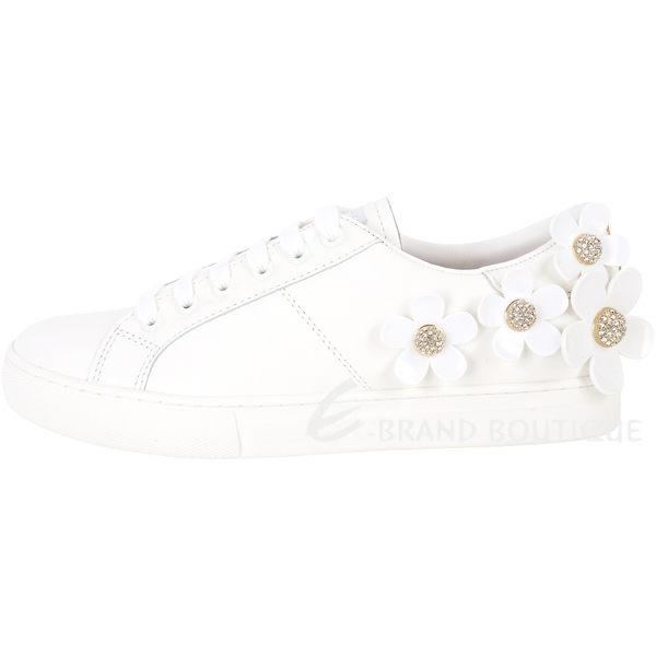 MARC JACOBS Daisy 經典立體雛菊裝飾繫帶休閒鞋(白色) 1820171-20