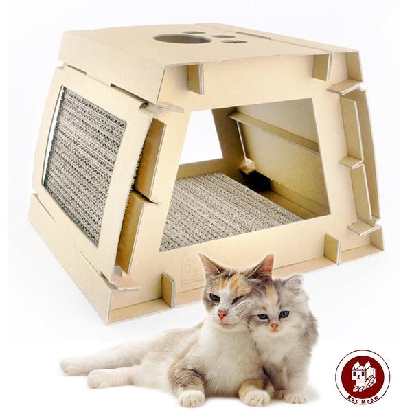 Box Meow 瓦楞貓抓板-DIY平板屋 (CS030)