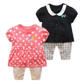 短袖連身衣 春款粉色兔子裙褲 包屁衣 S71012