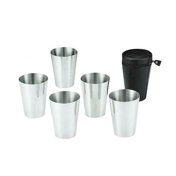 [CAPTAIN STAG] 鹿牌 18-8不銹鋼杯五件組 (M-8093) 秀山莊戶外用品旗艦店