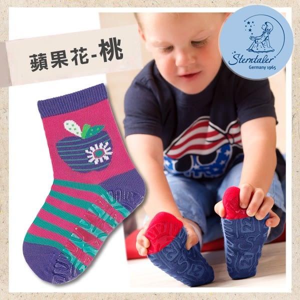 防滑輕薄學步襪-蘋果花桃(9-11cm) STERNTALER C-8021610-686