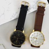 正韓大錶面簡約三眼 手錶XW043