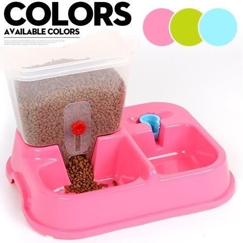 *WANG*【寵喵樂】飲水器+餵食器-兩用飼料桶-可放2kg飼料
