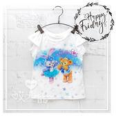 達菲史黛拉夢幻短袖上衣 可愛 女童 T恤 短T 日系 迪士尼 荷葉袖 棉質