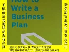 二手書博民逛書店How罕見to Write a Business PlanY246218 Brian Finch Brian