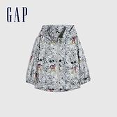 Gap男幼童 Gap x Disney 迪士尼系列連帽防雨服 681579-淺灰色