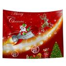 聖誕布置/交換禮物/送1.5米星星燈//聖誕節布置裝飾掛布-火箭送禮物(沙灘巾 背景布 )【半島良品】