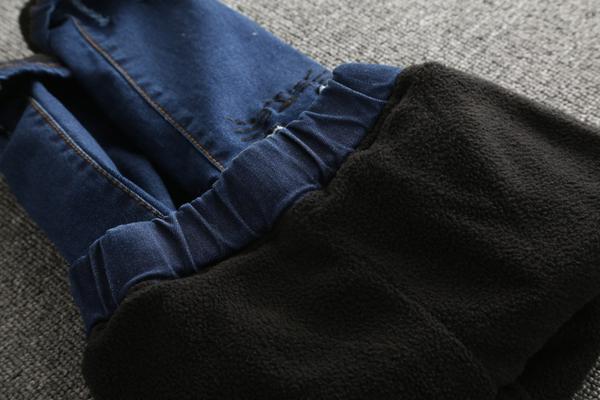 *╮小衣衫S13╭*加厚款超人氣立體粉耳貓彈力牛仔褲1061125