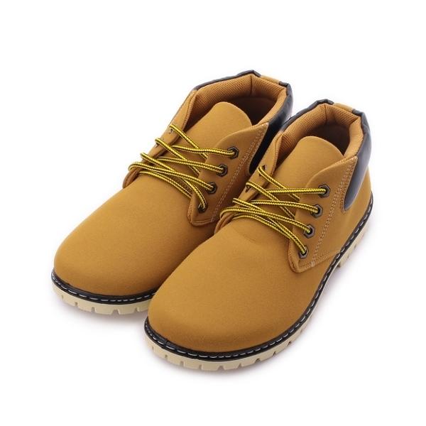 ARRIBA 金屬釦孔低筒靴 金黃 男鞋