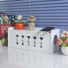 電線收納盒 翻蓋理線盒插排電源線整理收納盒插線板藏線盒可壁掛墻【快速出貨八折搶購】