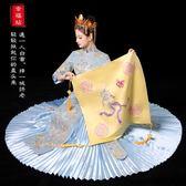 紅蓋頭結婚蓋頭新娘中式刺繡花香檳秀禾服蓋頭喜帕金色【極簡生活館】
