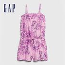 Gap 女童 活力花卉吊帶連體短褲 578137-粉色印花
