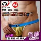 【網將WJ】條紋網紗半透明性感丁字褲