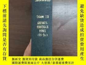 二手書博民逛書店CHEMICAL罕見ABSTRACTS Vol.115 CHEMICAL SUBSTANCE INDEX(IS-O