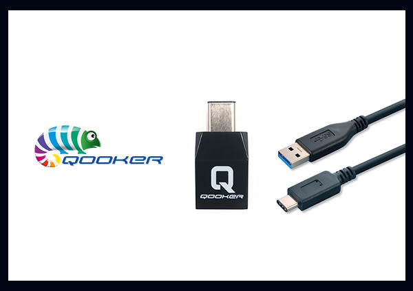 Qooker 酷可 USB 3.1 TYPE-C 傳輸充電線+轉接器配件組 (盒裝)