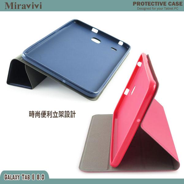 Miravivi SAMSUNG GALAXY Tab E 8.0 LTE 時尚經典三折側立皮套