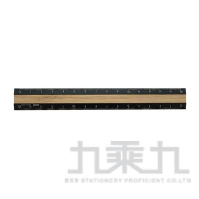 MIDORI鋁木尺(15cm)黑色42270006