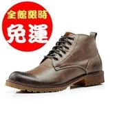 牛皮製作英倫型男經典中筒靴100d30【Brag Na義式精品】