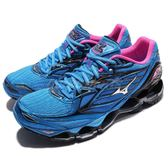 【六折特賣】 美津濃 Mizuno Wave Prophecy 6 藍 黑 桃紅 頂級 慢跑鞋 女鞋【PUMP306】 J1GD170003