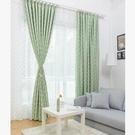 半遮光布圓點窗簾紗簡約定制成品布料陽臺客廳臥室   JX