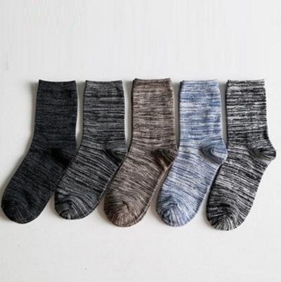 長襪禮盒(5雙裝)-冬季保暖防臭迷彩純棉男士襪子套組5色72s1[時尚巴黎]