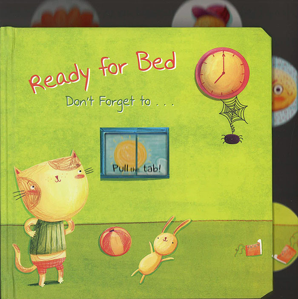 【睡前:拉拉操作書】:READY FOR BED DON'T FORGET TO.../硬頁操作書 (1歲以上適用)