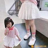 中小童裝白裙子兒童洋氣短裙女童百搭半身裙寶寶JK裙夏裝新款【小橘子】