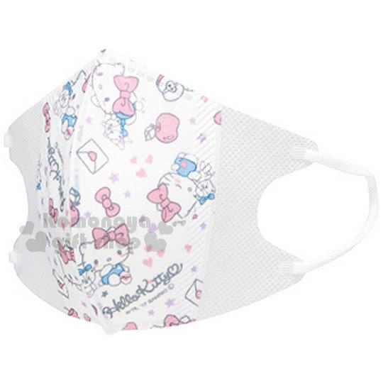 〔小禮堂〕Hello Kitty 兒童立體口罩《10入.小熊.星星.愛心.蝴蝶》適用4歲以上兒童 4973307-38628