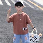 運動T恤 童裝男童夏裝2019新款韓版兒童短袖t恤中大童洋氣夏季半袖棉質潮 2色