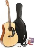 【金聲樂器廣場】全新 美國大廠 Fender DG-8S/DG8S 面單板 民謠吉他 套裝組