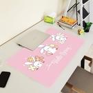 桌布 兒童桌墊學習桌課桌學生作業墊少女心電腦辦公桌布防水硅膠書桌墊 宜品